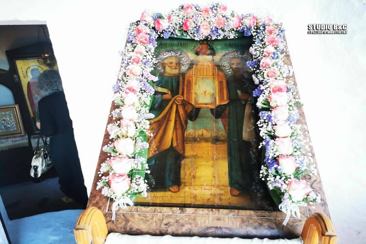 Γιορτάζει το Εκκλησάκι των Αποστόλων Πέτρου και Παύλου στο Ναύπλιο (ΦΩΤΟ)