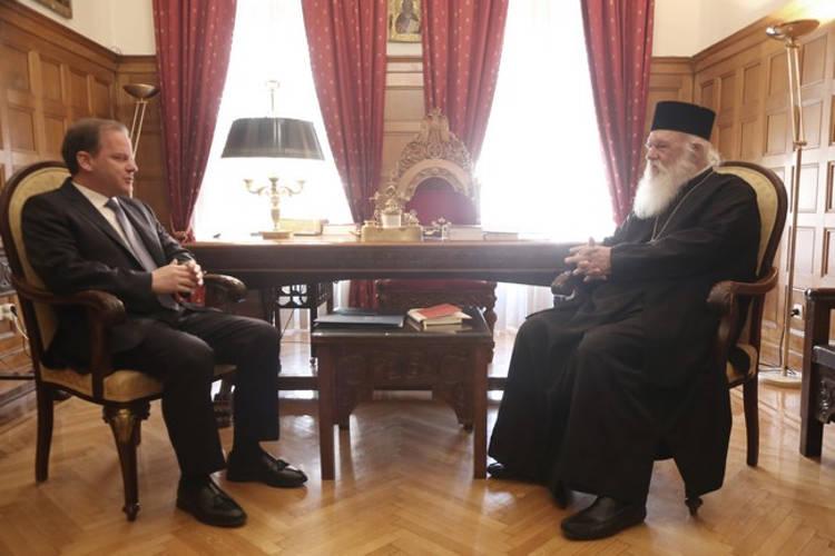 Συνάντηση Αρχιεπισκόπου με υπουργό Μεταφορών