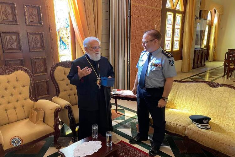 Επίσκεψη απερχόμενου αρχηγού Αστυνομίας Κύπρου στον Μητροπολίτη Κωνσταντίας