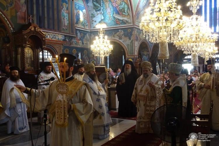 Τρισαρχιερατική Θεία Λειτουργία για τον Πολιούχο της Κορίνθου