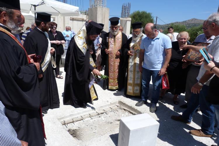 Θεμέλιος λίθος στον νέο Ιερό Ναό Αγίου Θεοδώρου Σφενδυλίου