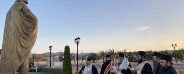 Επιμνημόσυνη δέηση στον ανδριάντα του τελευταίου αυτοκράτορος του Βυζαντίου