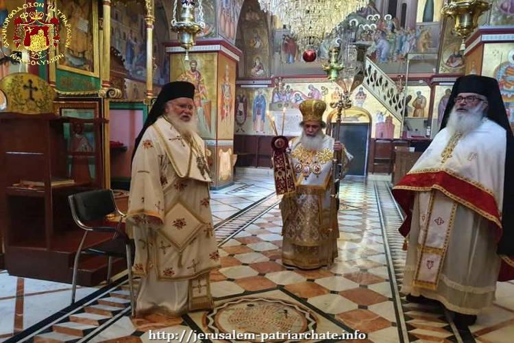 Πατριαρχική Θεία Λειτουργία στη Μονή Μεταμορφώσεως του Σωτήρος στο όρος Θαβώρ