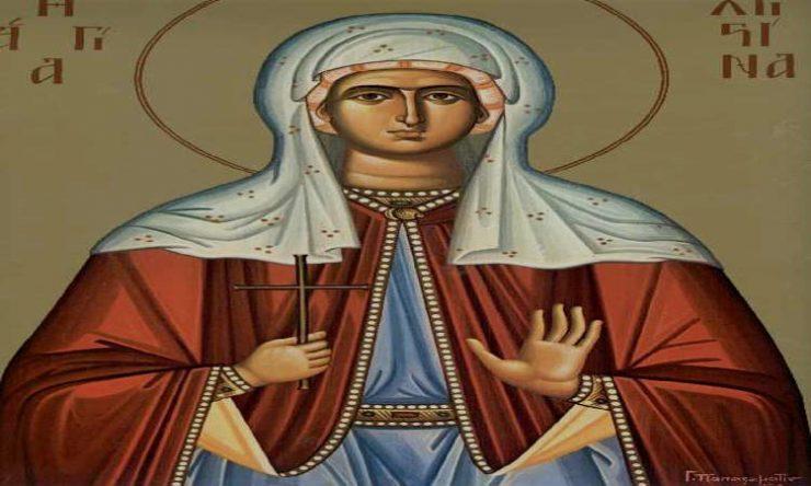 Αγρυπνία Αγίας Χριστίνης στη Θεσσαλονίκη Εορτή Αγίας Χριστίνης της Μεγαλομάρτυρος