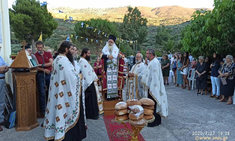 Εορτή Οσίας Ειρήνης Χρυσοβαλάντου στη Δάφνη Σητείας