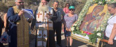Μεταφορά εικόνας Παναγίας Φανερωμένης από τη Σκοπή στην ομώνυμη Ιερά Μονή Σητείας