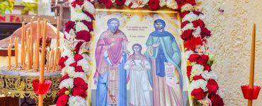 Εορτή Ευρέσεως Ιερών Λειψάνων Αγίων Ραφαήλ, Νικολάου και Ειρήνης στα Λαγυνά (ΦΩΤΟ)