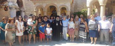 Ο Μάνης Χρυσόστομος στο Μοναστήρι που βαπτίστηκε