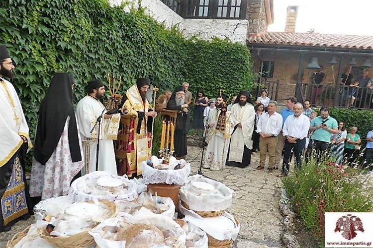 Εορτή Αγίων Αναργύρων στην ιστορική Ιερά Μονή στον Πάρνωνα