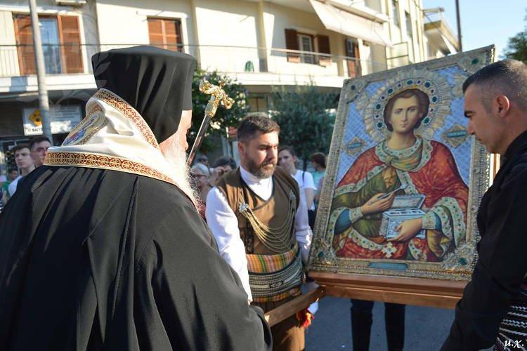 Υποδοχή Εικόνας Αγίου Παντελεήμονος στην Πολίχνη