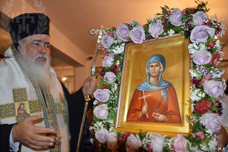Εορτή Αγίας Ειρήνης Χρυσοβαλάντου στην Ευκαρπία Θεσσαλονίκης