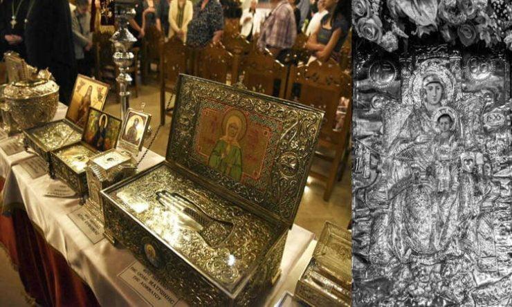 Συνεχίζεται η προσκύνηση της θαυματουργού Εικόνος της Παναγίας της Διασώζουσας Σήμερα η Αναχώρηση Ιερών Λειψάνων Μικρασιατών Αγίων στη Νέα Ιωνία