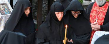 Νέα Μοναχή στην Ιερά Μονή Παναγίας Λαμπηδώνος