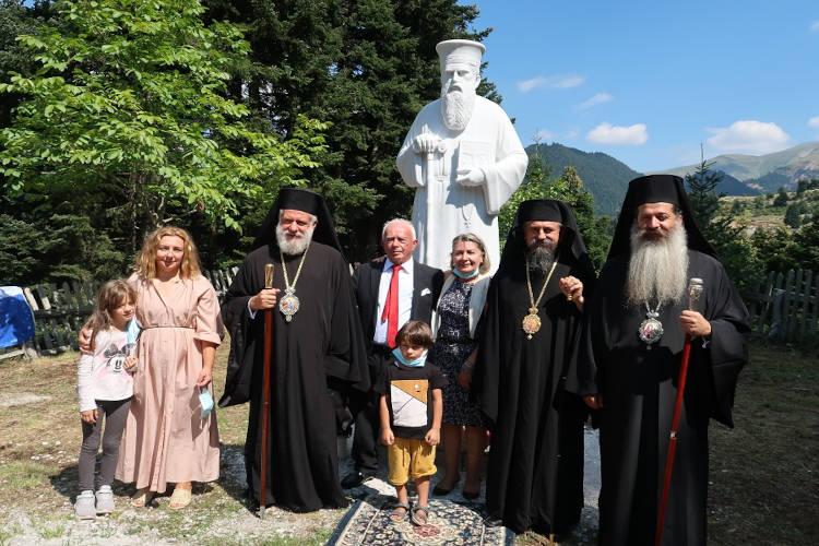 Αποκαλυπτήρια προτομής του Αγίου Εθνοϊερομάρτυρος Κοσμά του Αιτωλού