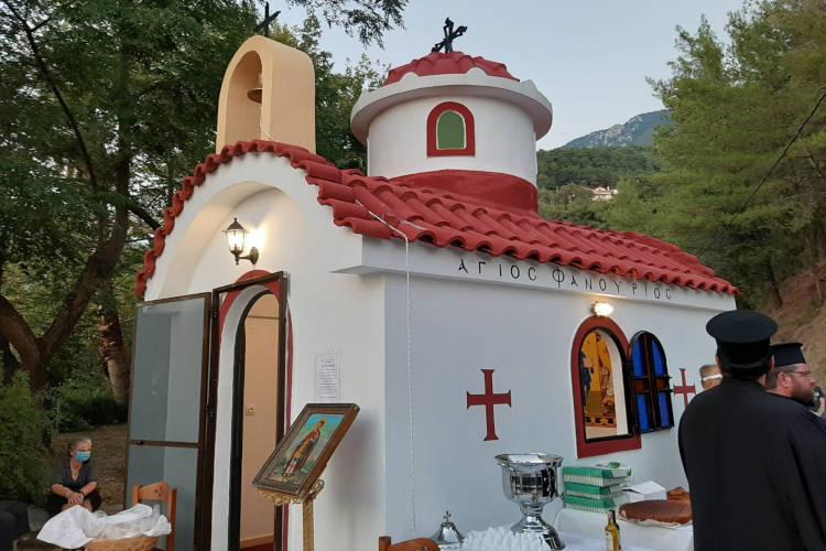 Αγιασμός στον νέο Ιερό Ναό Αγίου Φανουρίου Παραμυθιάς