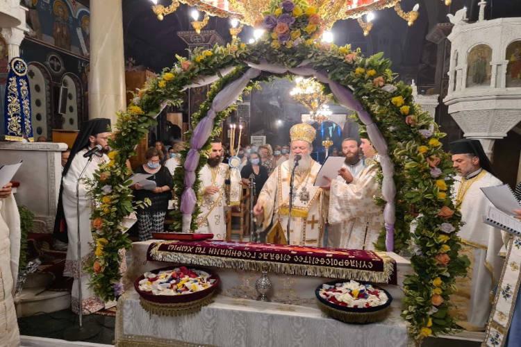 Προεόρτια Αγρυπνία στο Ιερό Προσκύνημα Παναγίας Φανερωμένης Νέας Αρτάκης