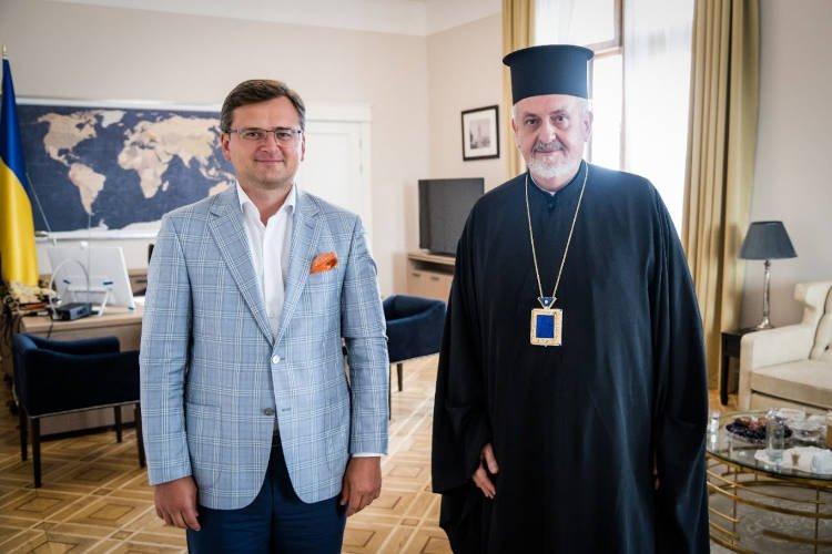 Συνάντηση του Μητροπολίτη Γαλλίας με τον Υπουργό Εξωτερικών της Ουκρανίας (ΦΩΤΟ)