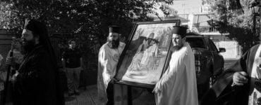 Δωρεά Θαυματουργού Εικόνος Αγίου Σπυρίδωνος εκ Νεαπόλεως στην Μητρόπολη Νέας Ιωνίας