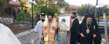 Υποδοχή ιεράς εικόνος Παναγίας Γλυκοφιλούσης - Ελεούσης στη Μητρόπολη Θεσσαλιώτιδος