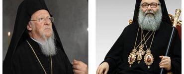 Τηλεφωνική επικοινωνία του Οικουμενικού Πατριάρχου με τον Πατριάρχη Αντιοχείας