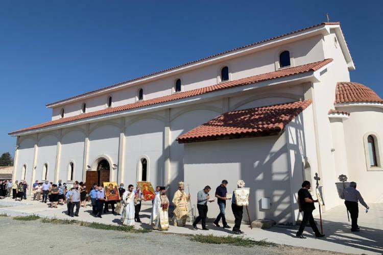 Εκκλησιασμός των εκτοπισμένων των κοινοτήτων Πυργάς και Βιτσάδας