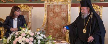 Η Πρόεδρος της Ελληνικής Δημοκρατίας στον Αρχιεπίσκοπο Κύπρου