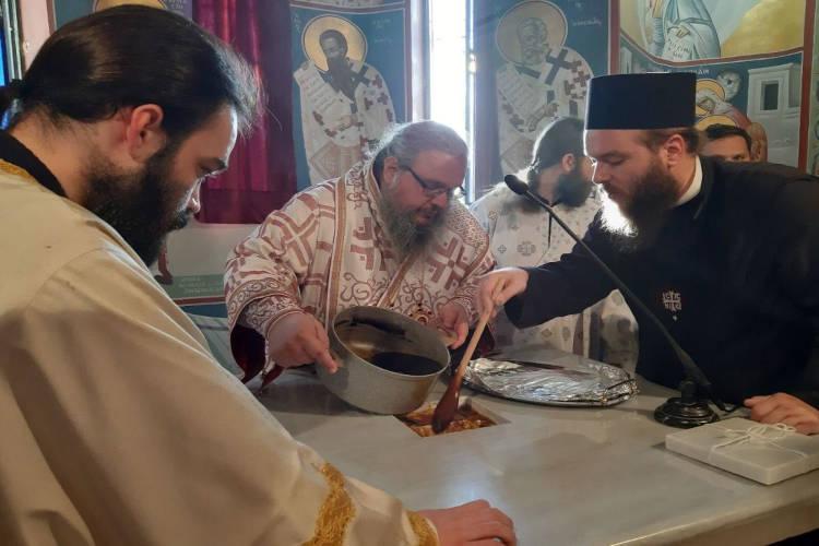 Εγκαίνια Ιερού Ναού Αγίου Νεκταρίου από τον Λαρίσης Ιερώνυμο