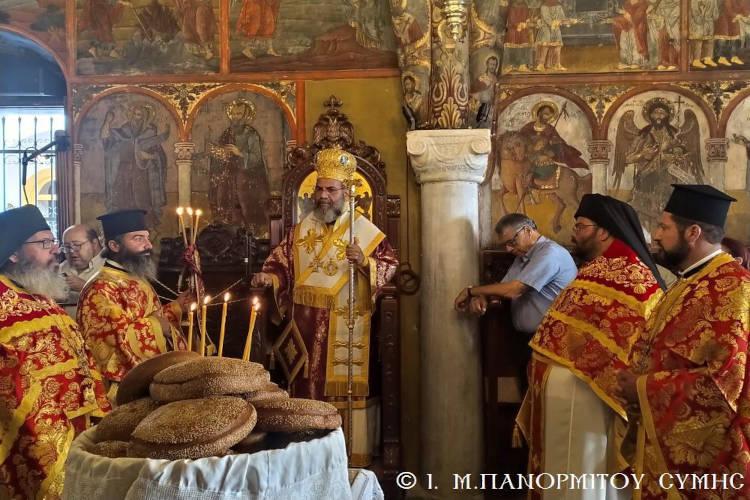 Εορτή του εν Χωναίς Θαύματος του Αρχαγγέλου Μιχαήλ στον Πανορμίτη
