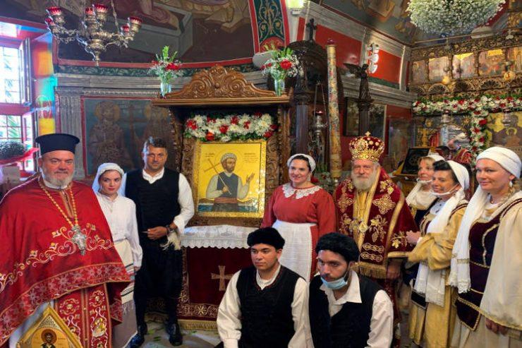 Λαμπρός εορτασμός του Αγίου Μανουήλ του Κρητός στη Μύκονο