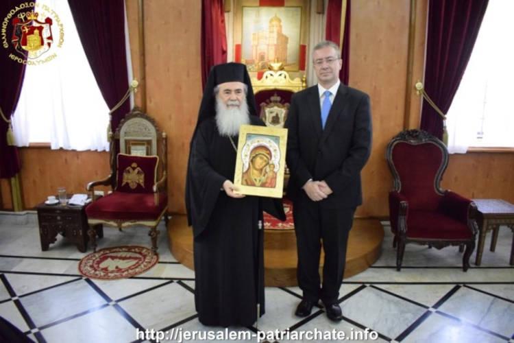 Ο νέος Γενικός Πρόξενος της Ελλάδος στα Ιεροσόλυμα στον Πατριάρχη Ιεροσολύμων
