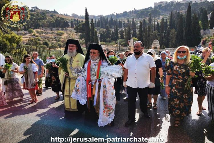 Η άνοδος της Εικόνος της Θεοτόκου στη Γεθσημανή