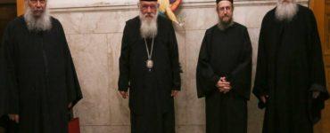 Συνάντηση Αρχιεπισκόπου με εκπροσώπους της Ιεράς Κοινότητας του Αγίου Όρους
