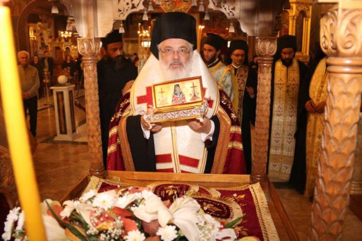 Λείψανο του Αγίου Νεκταρίου στο Διδυμότειχο