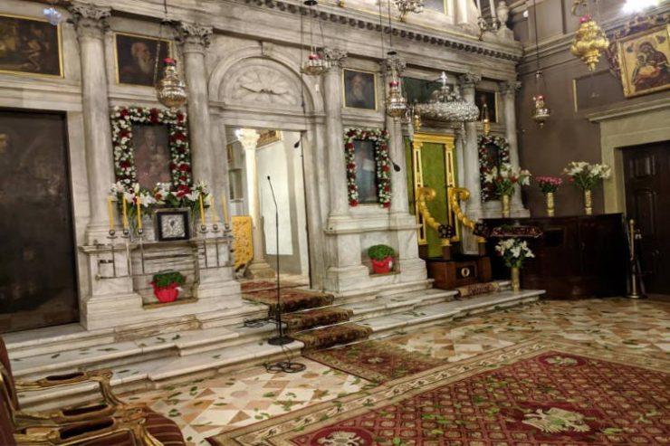 Εντός του Ναού η Λιτάνευση του Σκηνώματος του Αγίου Σπυρίδωνα στην Κέρκυρα