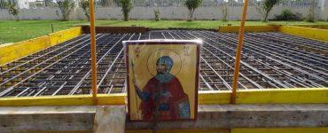 Θεμέλιο Λίθο στο Παρεκκλήσιο του Αγίου Λογγίνου στη Λάρισα