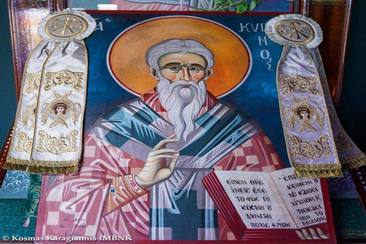 Εορτάστηκε η μνήμη του Αγίου Κυπριανού στη Μέσση Ημαθίας (ΦΩΤΟ)