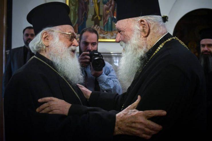 Ευχές Αρχιεπισκόπου Αθηνών στον Αρχιεπίσκοπο Αλβανίας