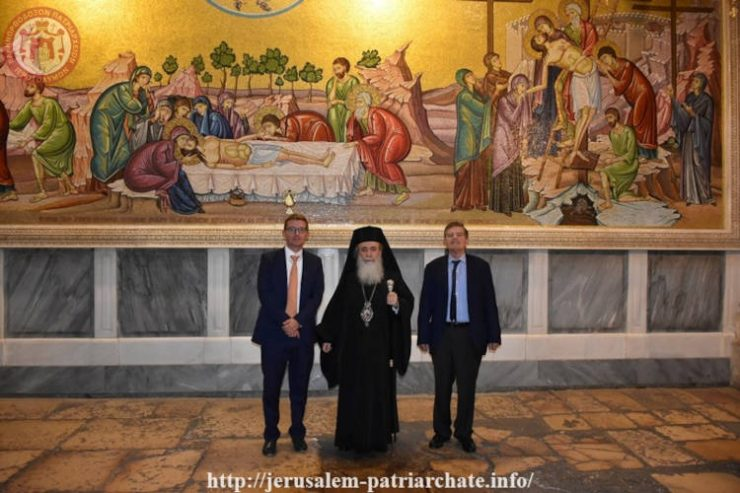 Ο Αθανάσιος Μαρτίνος στο Πατριαρχείο Ιεροσολύμων