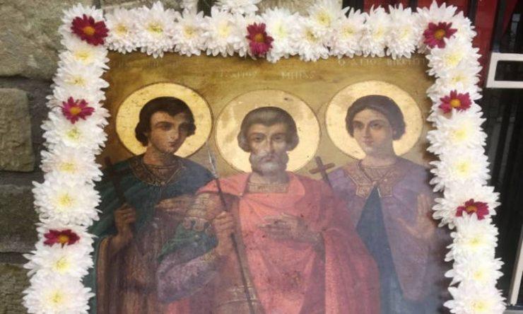 Εορτή Αγίων Μηνά, Βίκτωρος και Βικεντίου στην Καρδίτσα