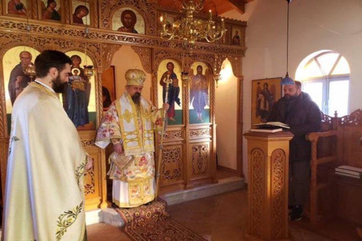 Εορτή Αγίου Σάββα του Ηγιασμένου στη Μητρόπολη Καρπενησίου