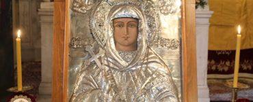 Κεκλεισμένων των θυρών πανηγύρισε η Ιερά Μονή Αγίας Βαρβάρας Σύρου