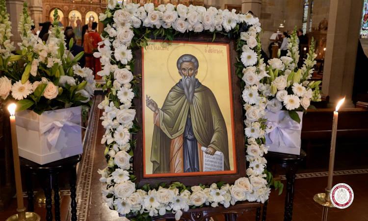 Η εορτή του Οσίου Μακαρίου και τα ονομαστήρια του Αρχιεπισκόπου Αυστραλίας στο Σύδνεϋ