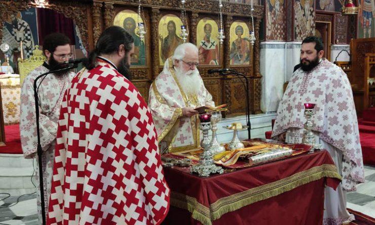 Κατηχητική Θεία Λειτουργία για την εορτή των Τριών Ιεραρχών στον Βόλο