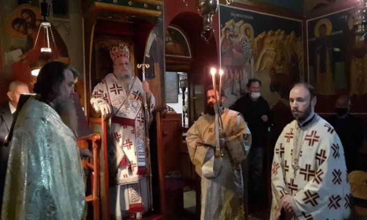 Αρχιερατική Θεία Λειτουργία στη Μονή Αγίου Ιωάννου του Χρυσοστόμου Νάξου