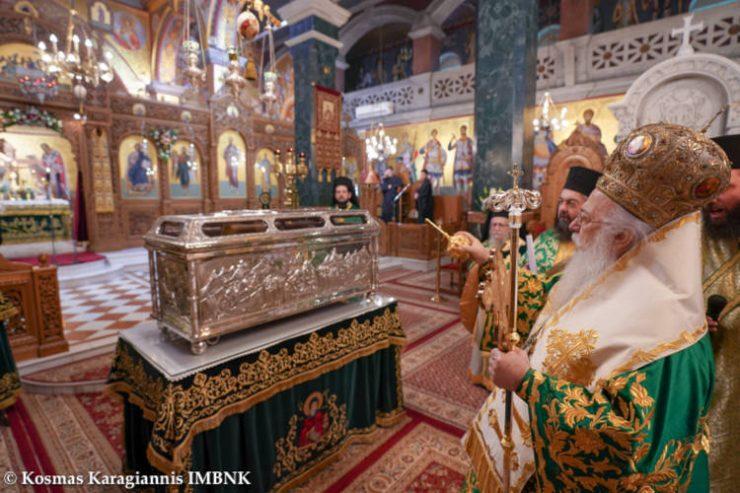 Τον πολιούχο της Όσιο Αντώνιο τον Νέο πανηγύρισε η Βέροια κεκλεισμένων των θυρών (ΦΩΤΟ)