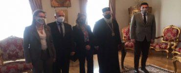Η Υφυπουργός Υγείας κ Ράπτη στον Μητροπολίτη Κερκύρας