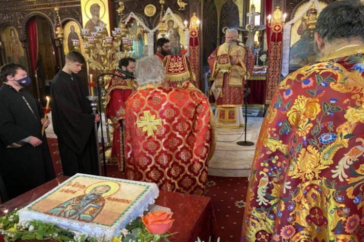 Πανηγυρικός εορτασμός στον Άγιο Χαράλαμπο Λενταριανών