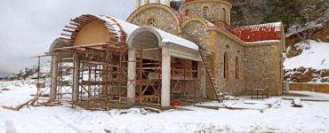 Το προσκύνημα του Οσίου Νικηφόρου χιονισμένο