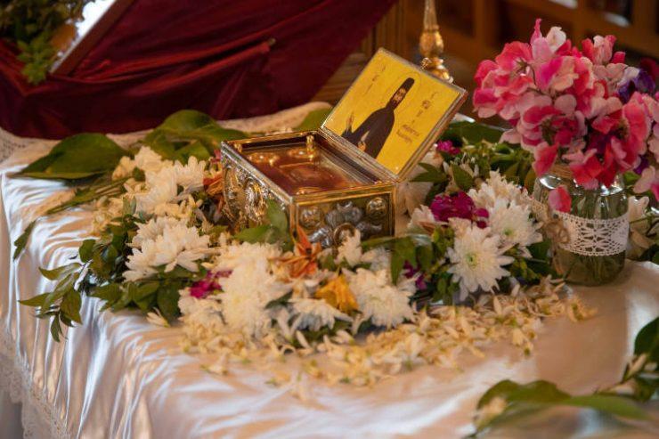 Υποδοχή λειψάνου του Αγίου Εφραίμ Νέας Μάκρης στην Παλαιά Λευκωσία