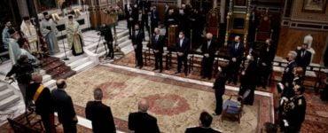 Δοξολογία για την 25η Μαρτίου στον Μητροπολιτικό Ναό Αθηνών